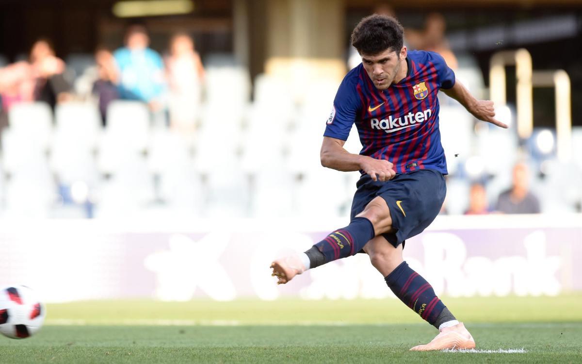 Barça B - Atlético Baleares: Suman un punto en el Miniestadi (1-1)