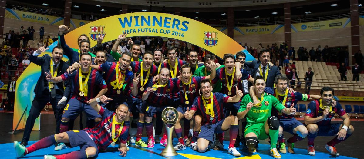 Barça Lassa, winner of 2014 UEFA Futsal Cup