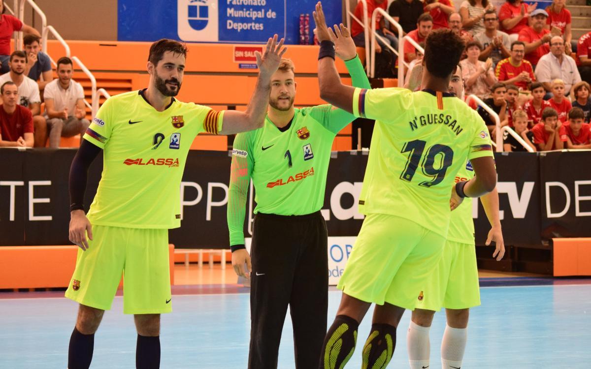 BM Benidorm - Barça Lassa: Triunfo para reafirmar el liderato (22-33)