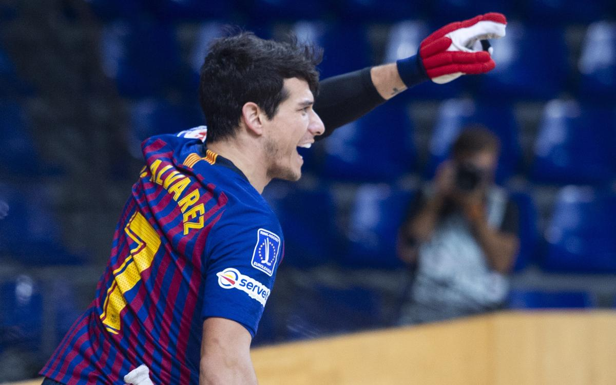 Barça Lassa - Rècam Laser Caldes: Victoria para mantenerse invictos (5-0)