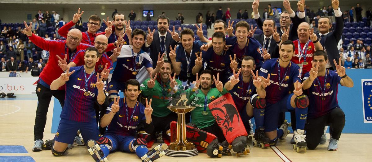 El Barça de hockey patines ganó la final de la Liga Europea de la temporada 2017/18