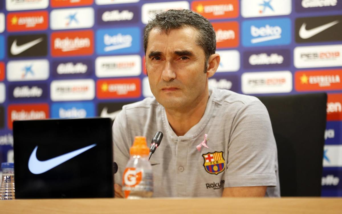 Ernesto Valverde: We're looking to get back on top