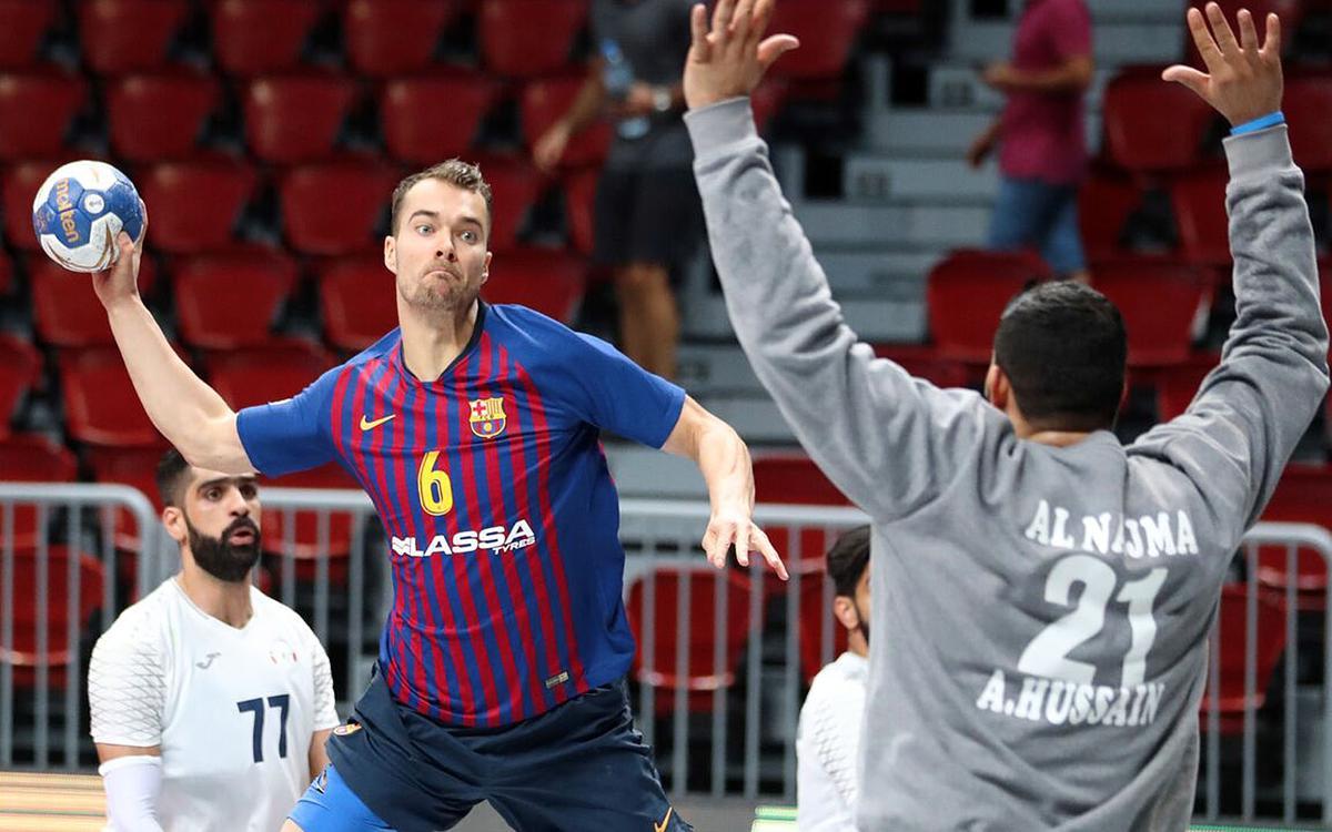 Barça Lassa – Al-Najma Club: ¡A semis de la Super Globe! (37-28)