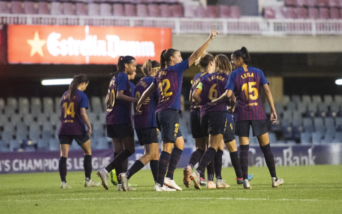 FC Barcelona Women – Glasgow City: Great night at the Miniestadi (5-0)
