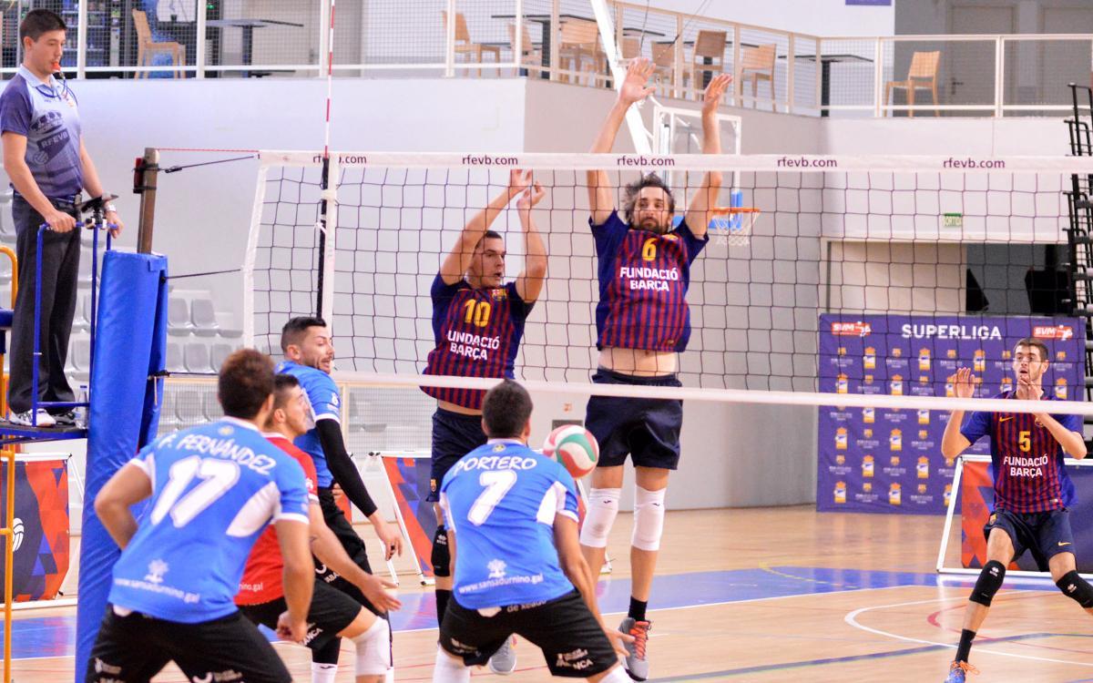 El Barça de Voleibol suma el primer punto de la temporada (2-3)