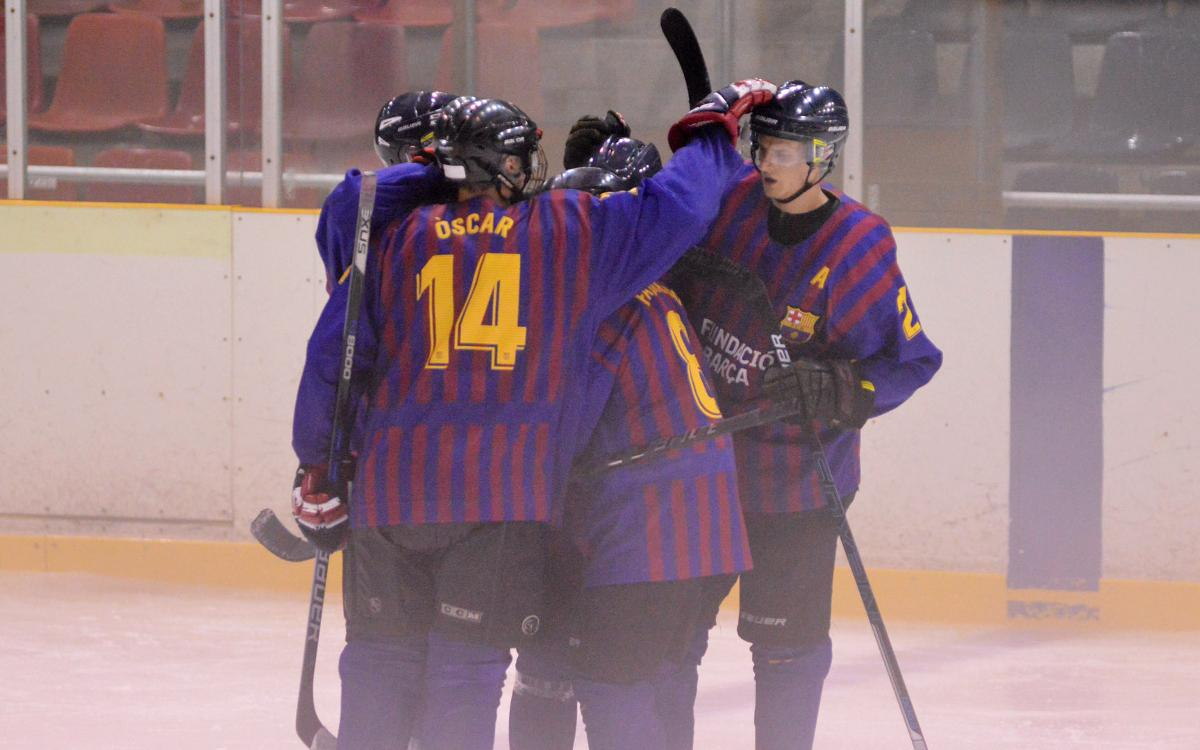 El Barça de Hockey Hielo supera el Majadahonda y ya tiene la primera victoria