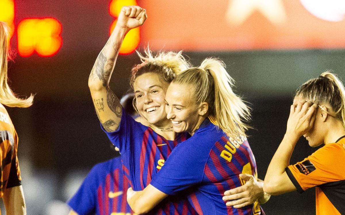 Glasgow City FC - Barça Femenino: ¡Hacia los cuartos de final! (0-3)