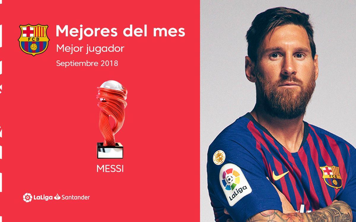 Lionel Messi, escollit millor jugador de la Lliga al mes de setembre