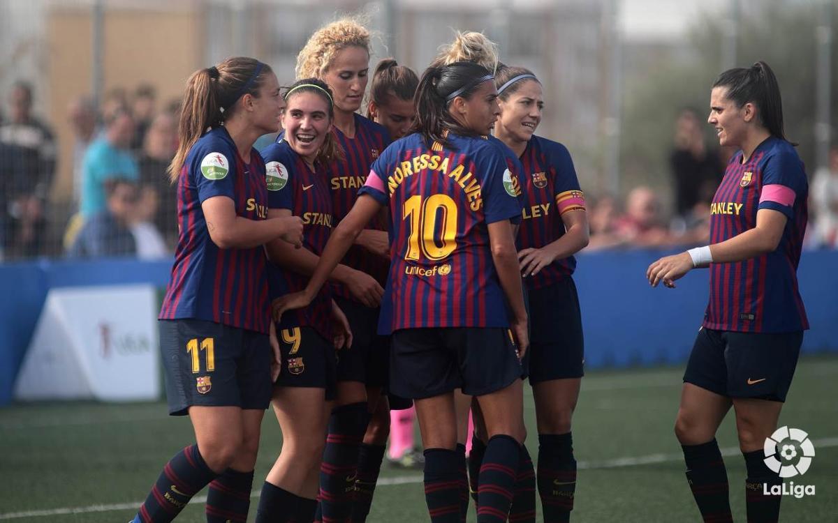 Barça Femenino - Sporting Club de Huelva: Victoria para continuar la racha inmaculada en la Liga (1-3)