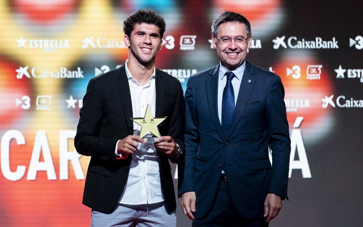Aleñá y Alexia, protagonistas culés en la 7ª Gala de las Estrellas del Fútbol Català
