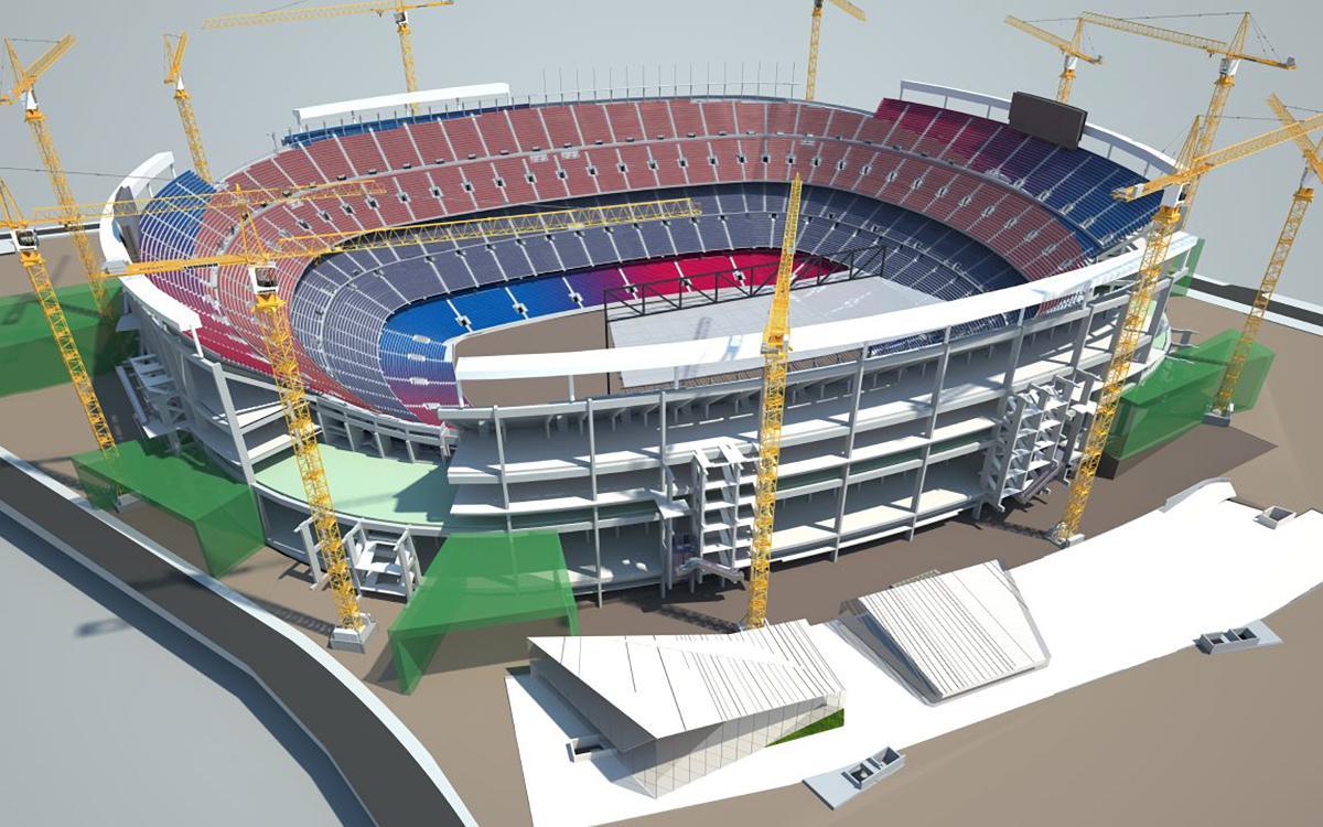 Le FC Barcelone lance la dernière phase de l'Espai Barça, le plus grand complexe sportif du monde au sein d'une ville majeure