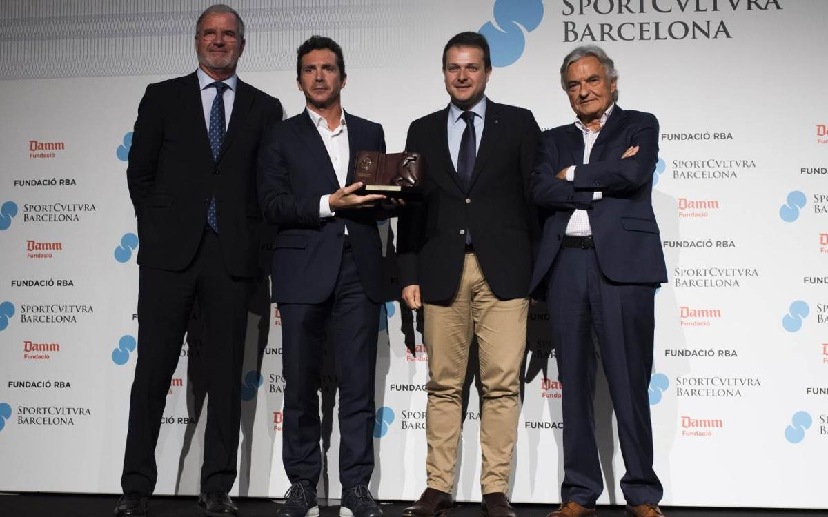 Andrés Iniesta, premio Sport Cultura Barcelona a la Mejor Trayectoria