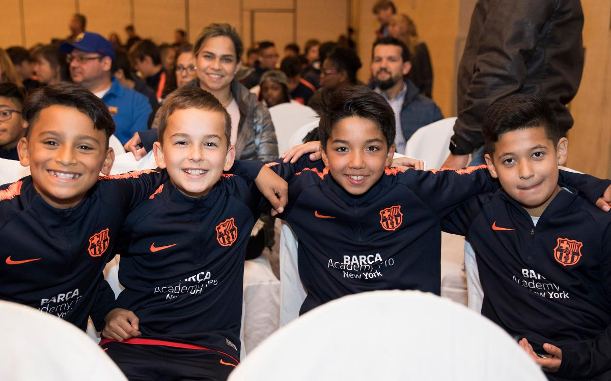 Barça Academy Pro NY and Allie Long present the season to a thousand in attendance