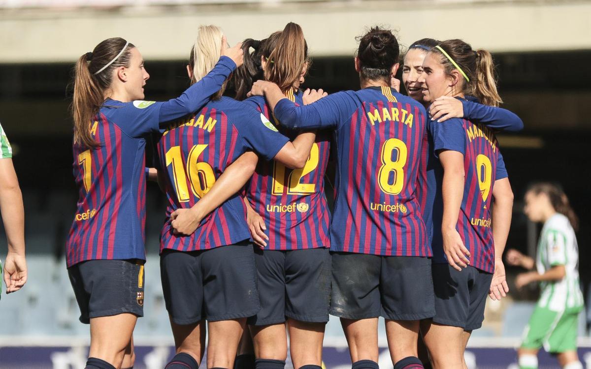 Barça Femení – Reial Betis: Nou triomf al Miniestadi (3-0)