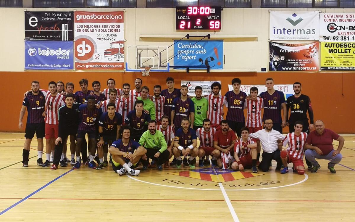El Barça Lassa, al 50è aniversari del CH Cardedeu