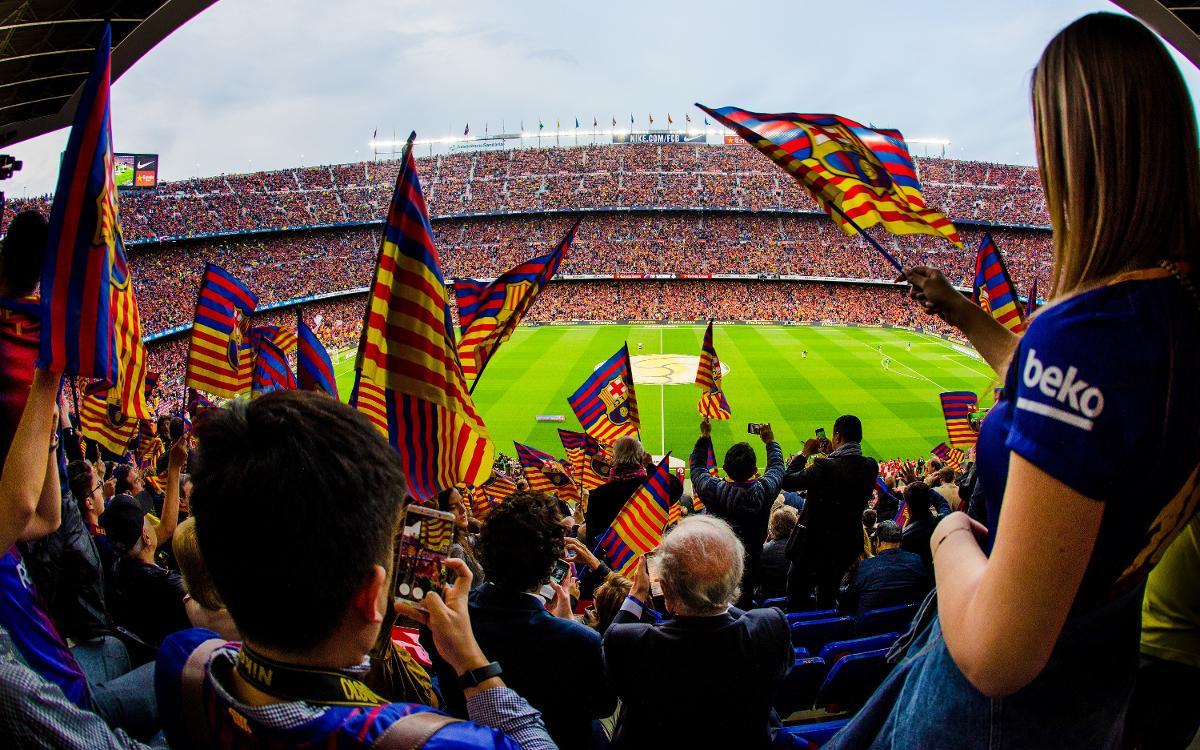 Barça's international penyes warming up for El Clásico