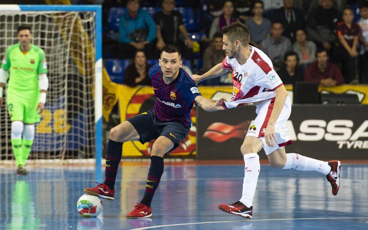 Barça Lassa - ElPozo Murcia (3-3, al Palau Blaugrana en la liga regular)