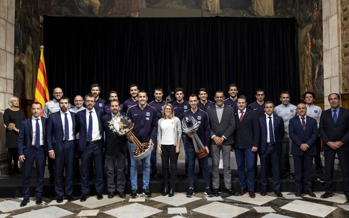 El Barça Lassa, recibido en el Palau de la Generalitat por los éxitos internacionales