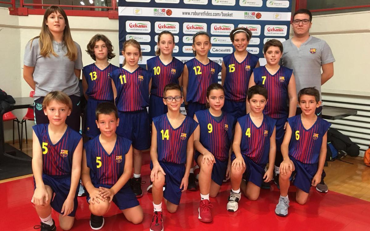 Primera experiencia internacional de la Barça Escola Basket