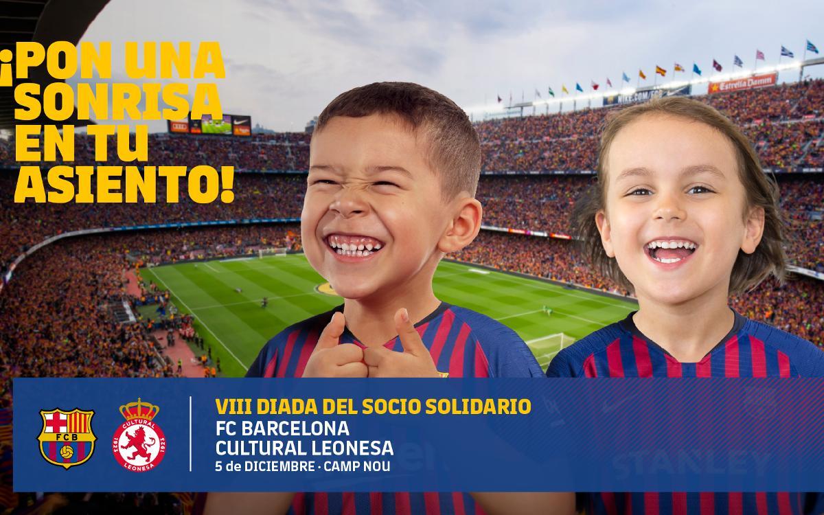 El Club libera todo el Camp Nou para el partido solidario contra la Cultural Leonesa en la Copa