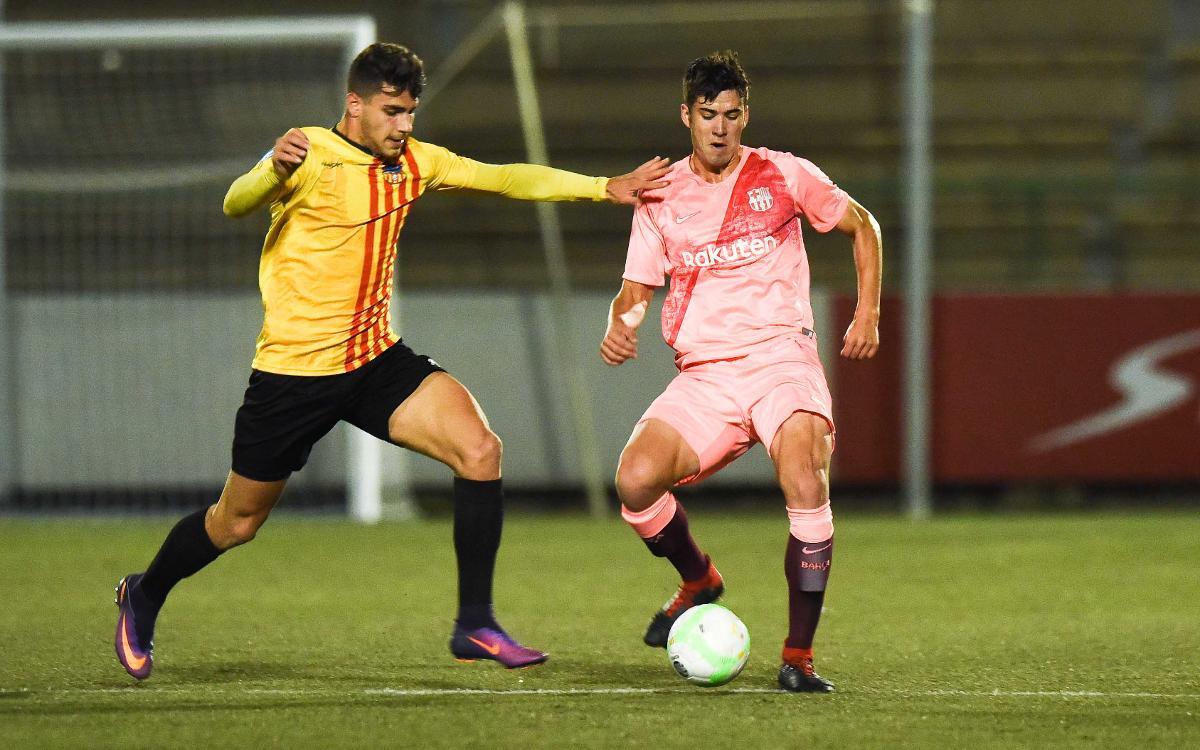 Sant Andreu - Barça B: Superados por la mínima en el Narcís Sala (1-0)