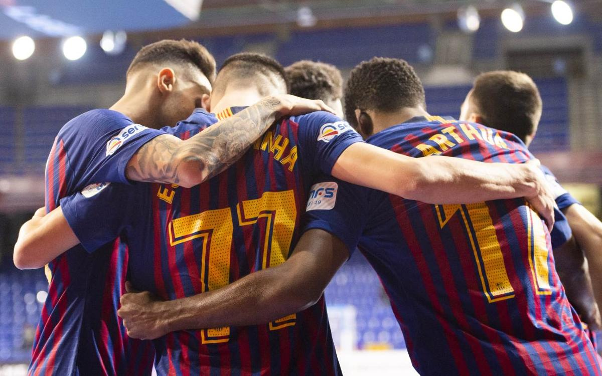 Barça Lassa – Palma Futsal: Lluvia de goles y líderes (8-1)