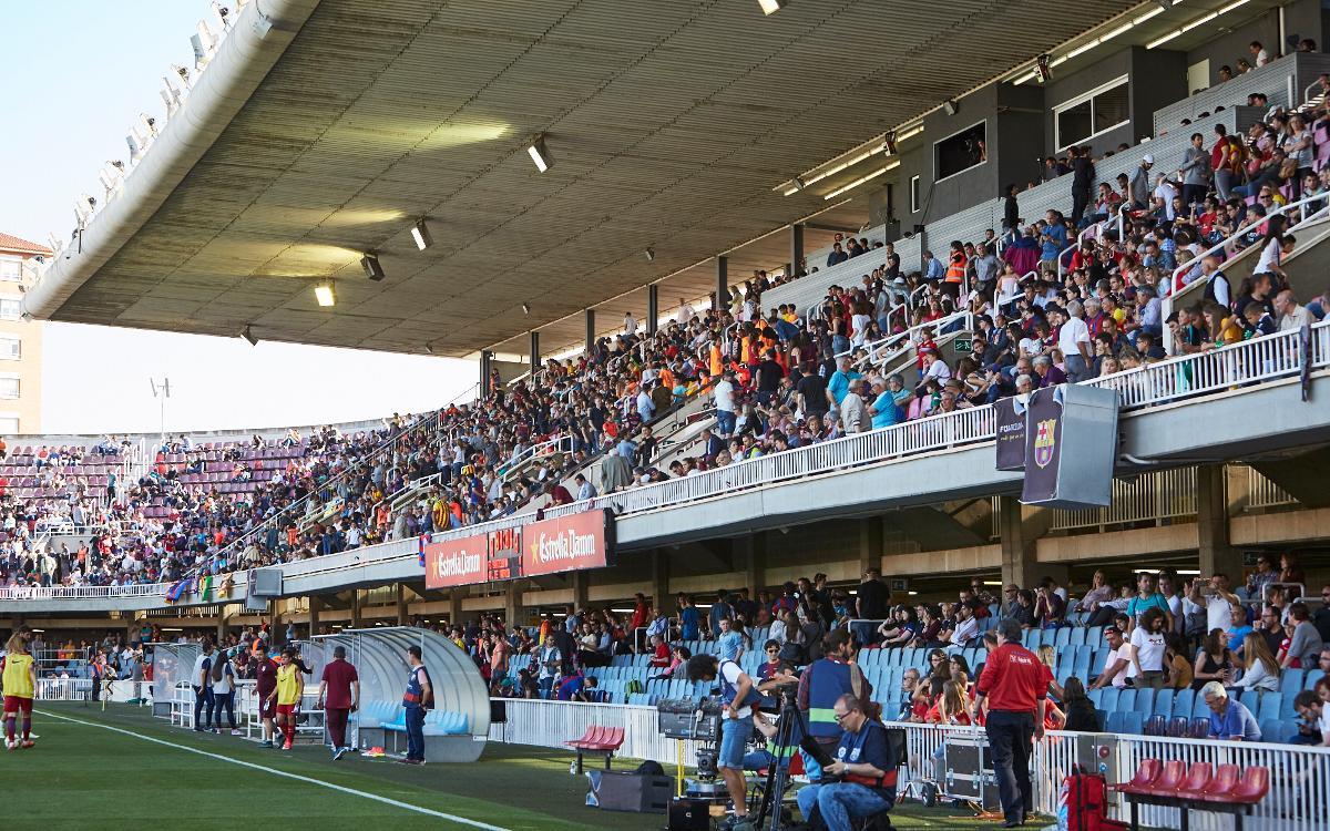 El Barça-Atlético de Madrid se jugará en el Miniestadi el domingo 18