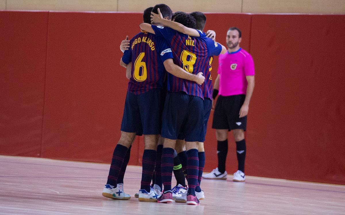 Barça Lassa B - Gran Canaria FS (3-1): Cinco partidos consecutivos invictos