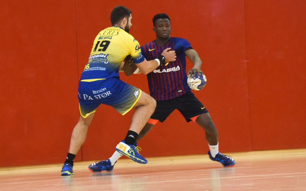 Barça Lassa B – Blasón y Bodegas Ceres Villa de Aranda (32-31): Espectacular triomf del segon equip