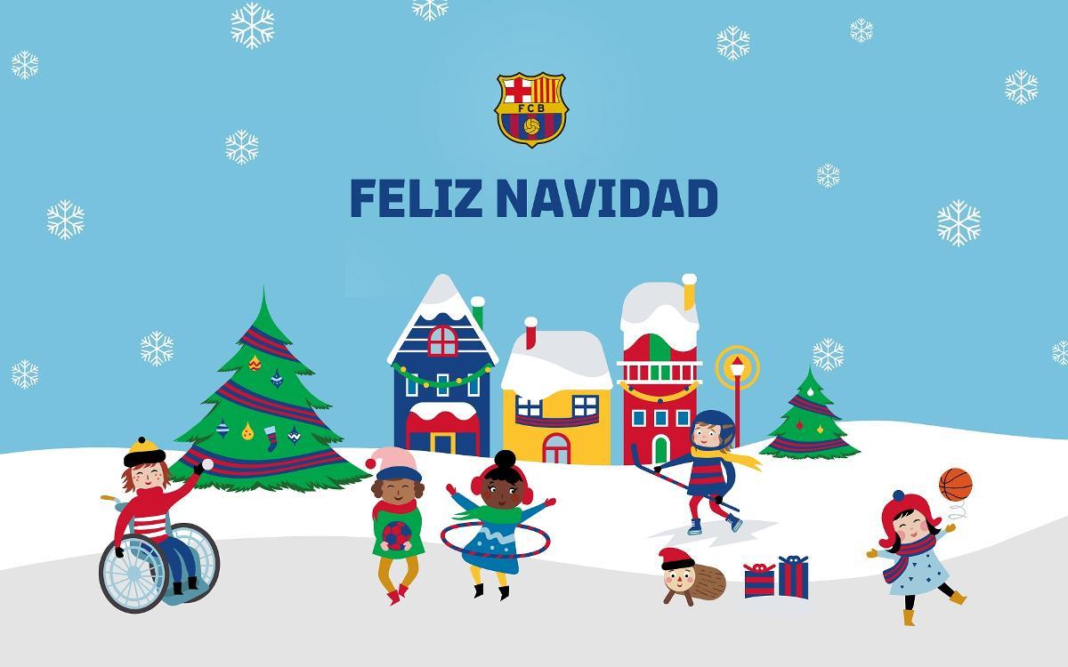 XIV Muestra de Christmas Blaugrana para socios de 3 a 15 años