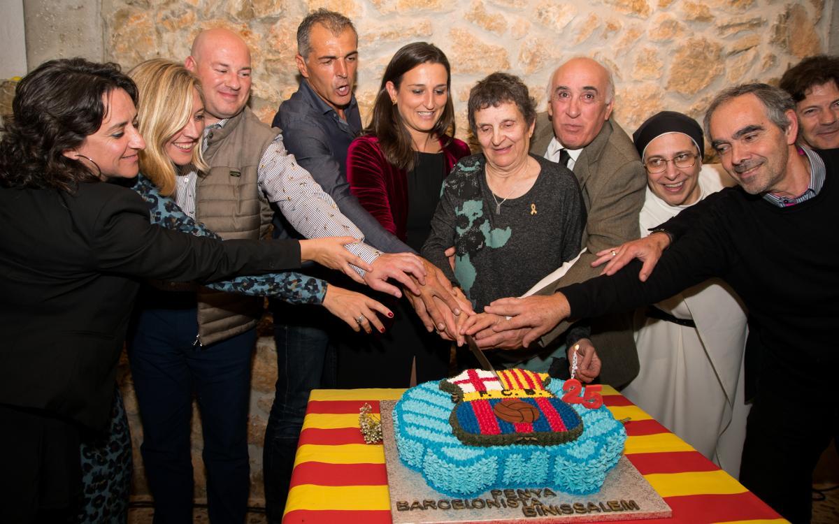 Celebración de los 25 años de la Penya Barcelonista Binissalem
