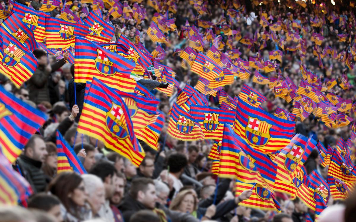 Aficion en el Camp Nou