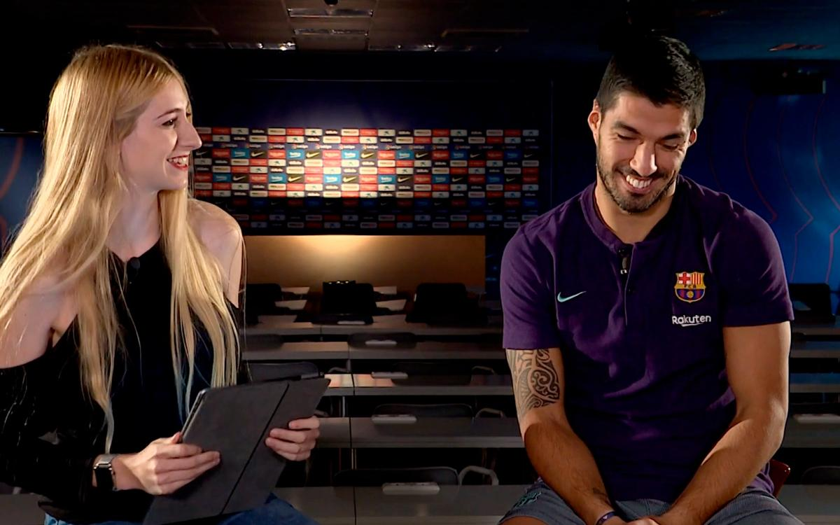Luis Suárez answers questions from the fans