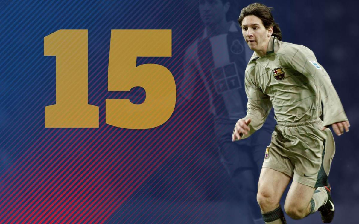 15th anniversary of Leo Messi's debut