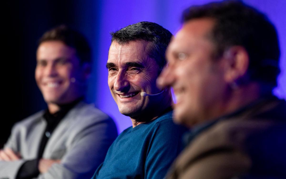 """Ernesto Valverde: """"L'estil del Johan és consubstancial al joc del FC Barcelona"""