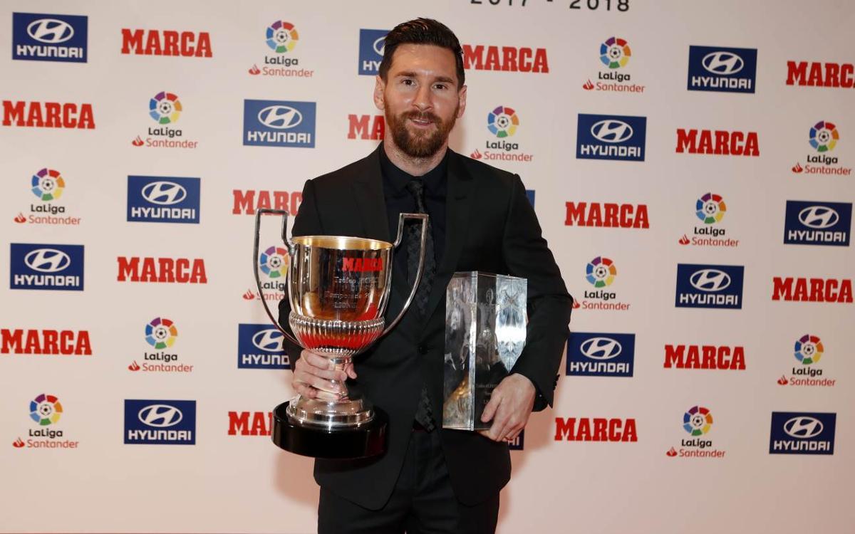 レオ・メッシ、2017-18年最多得点王受賞