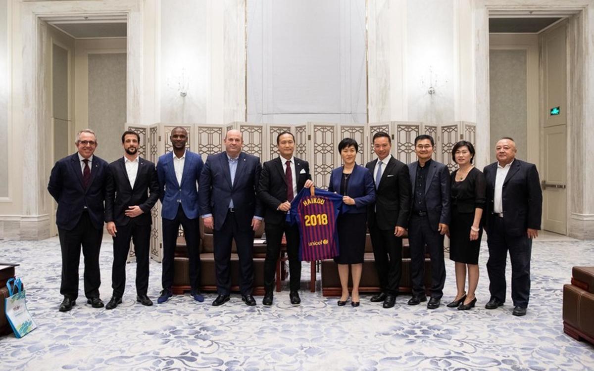 Imatge de familia amb Sun Ying