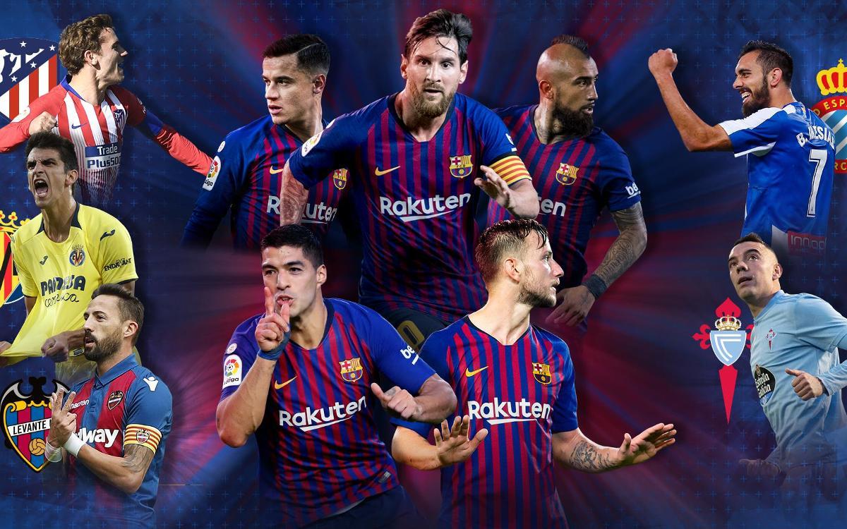 Cinco partidos de Liga hasta final de año