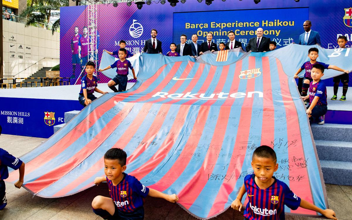 FC Barcelona opens Barça Experience in Haikou