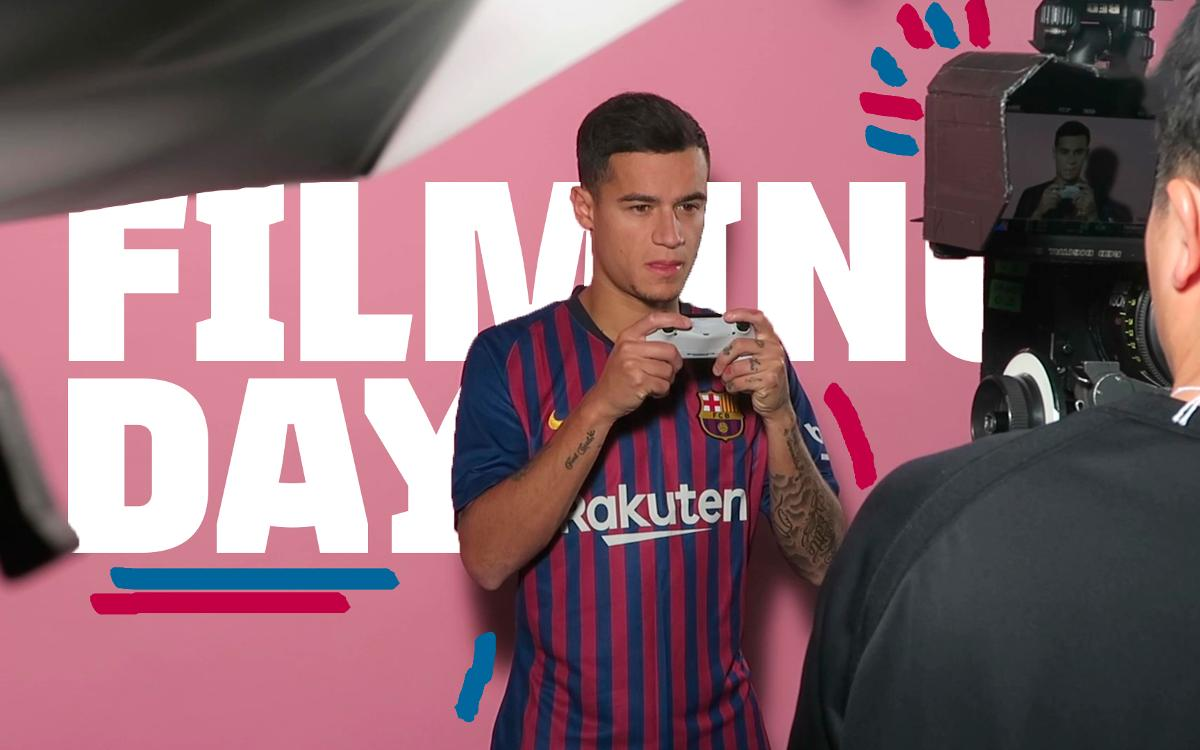 A day of filming at the Ciutat Esportiva