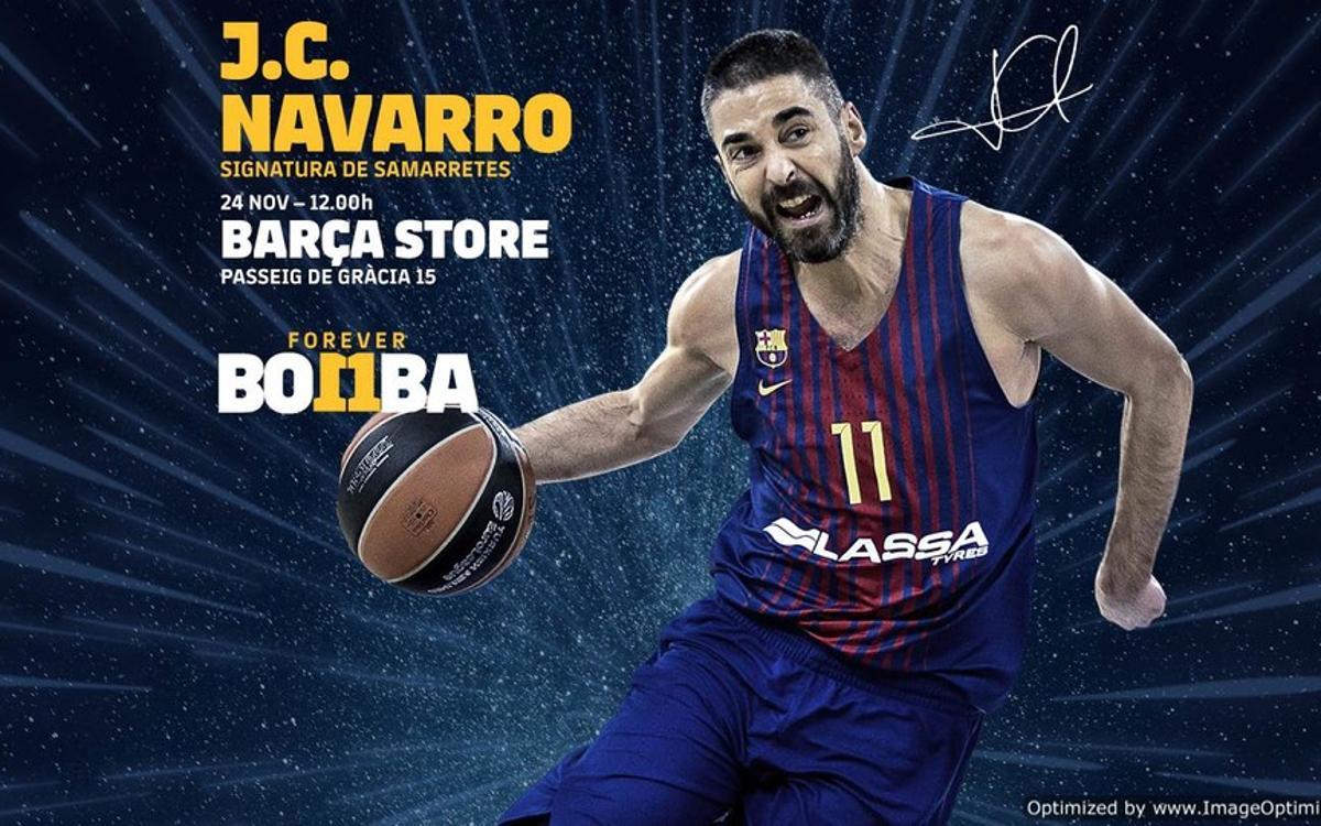 Juan Carlos Navarro, a la Barça Store de Passeig de Gràcia