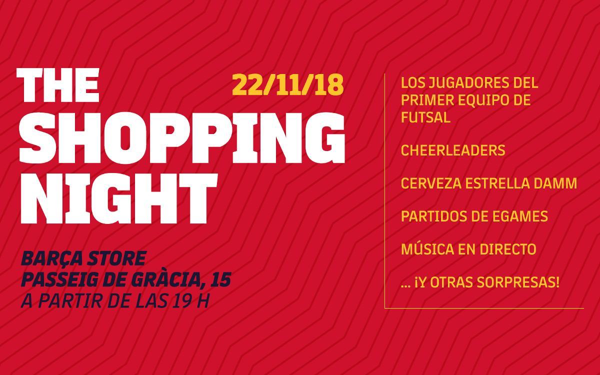 Llega la Shopping Night a la Barça Store de Passeig de Gràcia