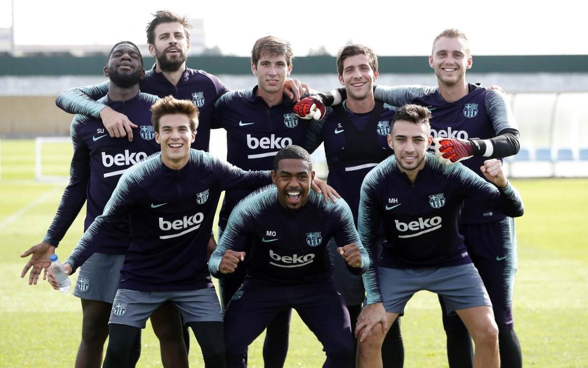 Sergio, S. Roberto, Alba y Cillessen novedades en el entrenamiento
