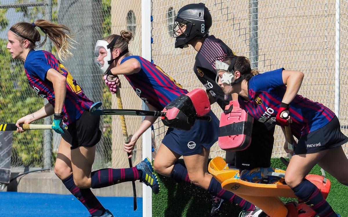 El Barça femení d'hockey herba domina però acaba empatant