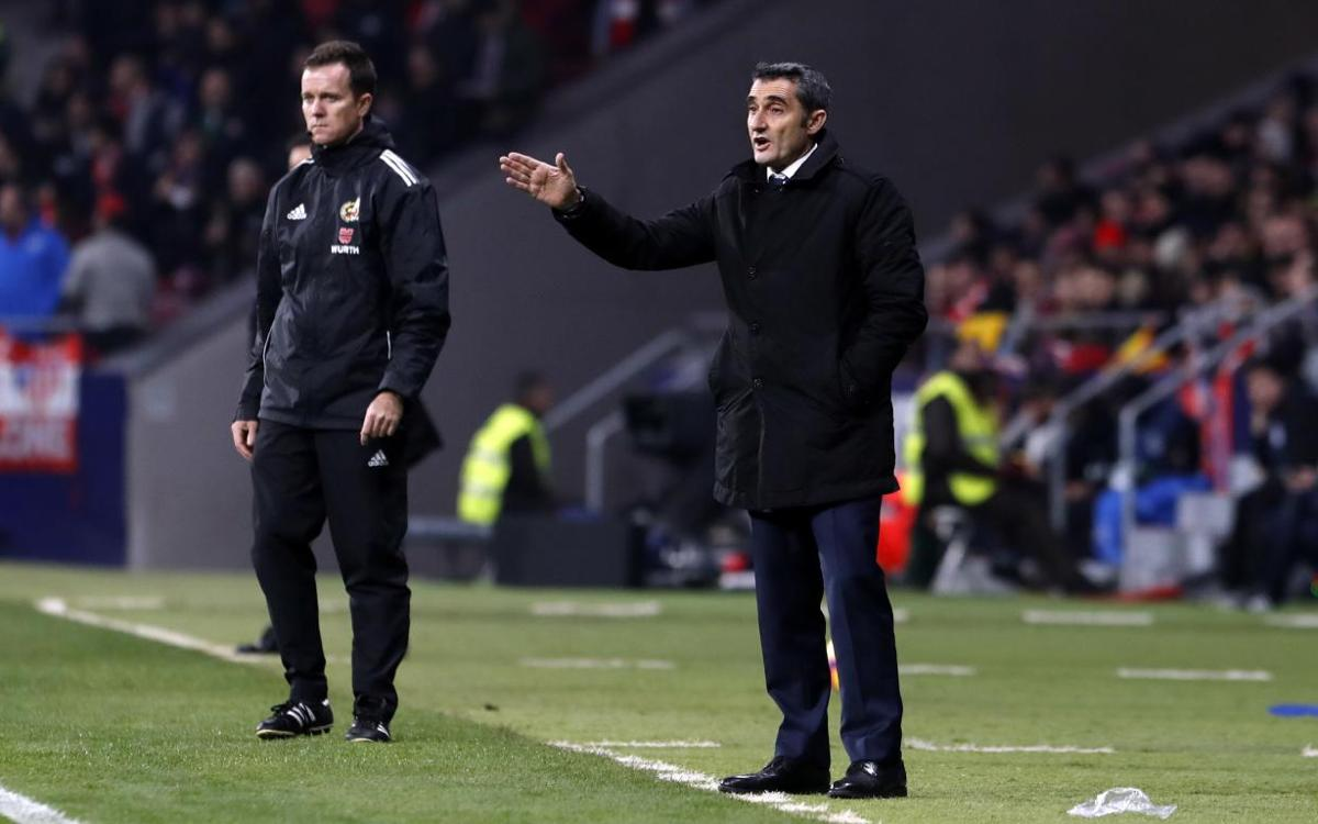 Ernesto Valverde: 'We lacked an offensive spark'