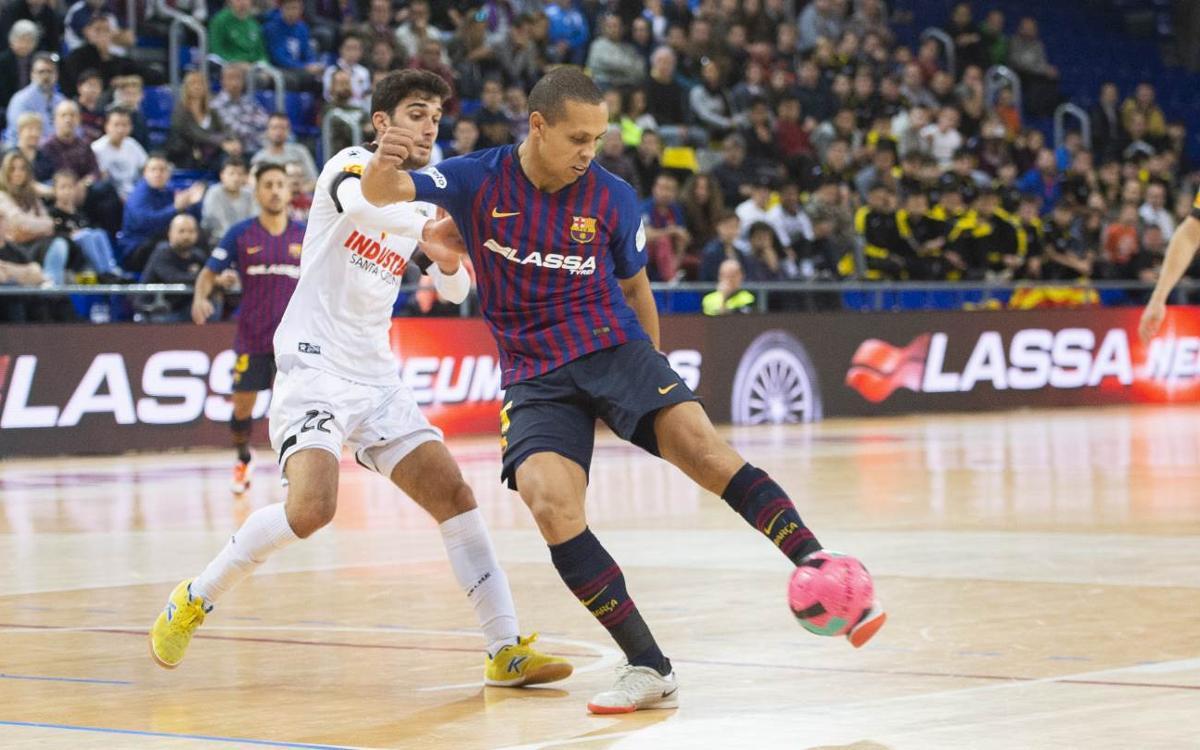 Barça Lassa – Industrias Santa Coloma: Cruel last second defeat (2-3)