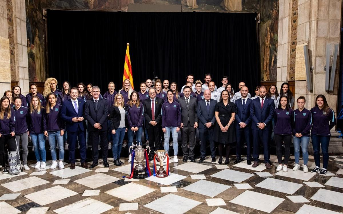 El presidente Torra recibe al Barça Femenino
