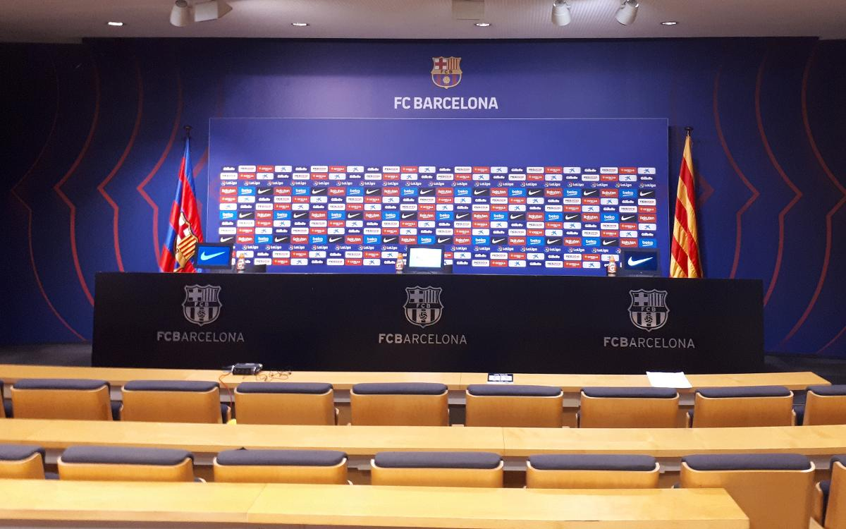 Ricard Maxenchs Press Room - Camp Nou