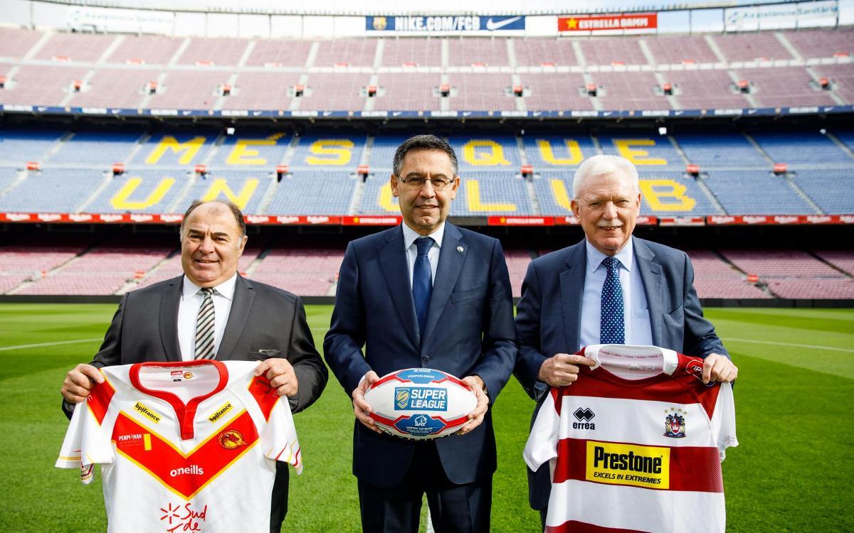 El Camp Nou acogerá un partido de la Super League de rugby a 13 entre los Dragons Catalans y el Wigan el 18 de mayo de 2019