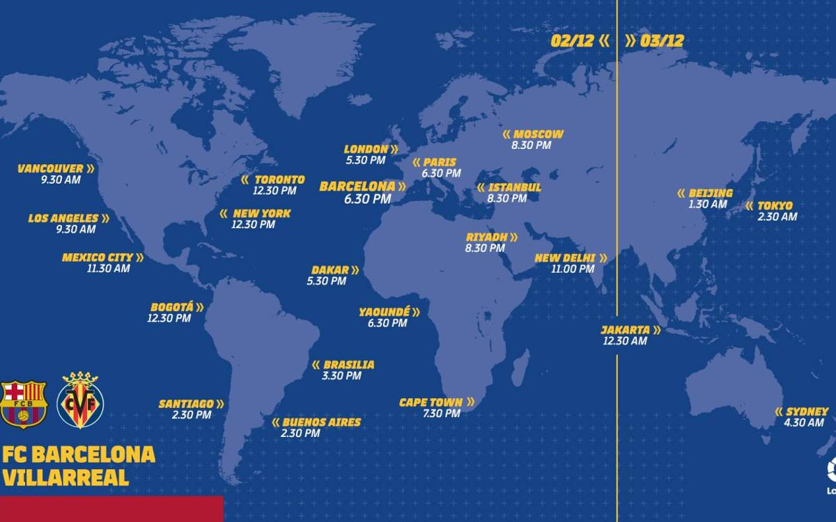 When and where to watch FC Barcelona – Villarreal